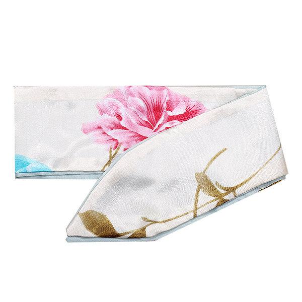 Yehwang Haar sjaaltje wit met bloem