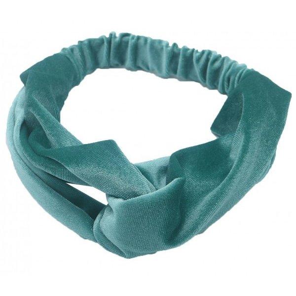 Haarband velvet petrol blauw