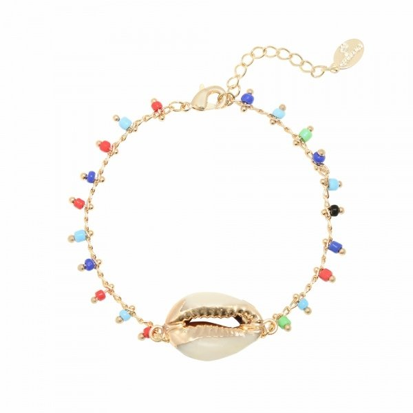 Yehwang Armband Summer Party - Schelp  — Goud