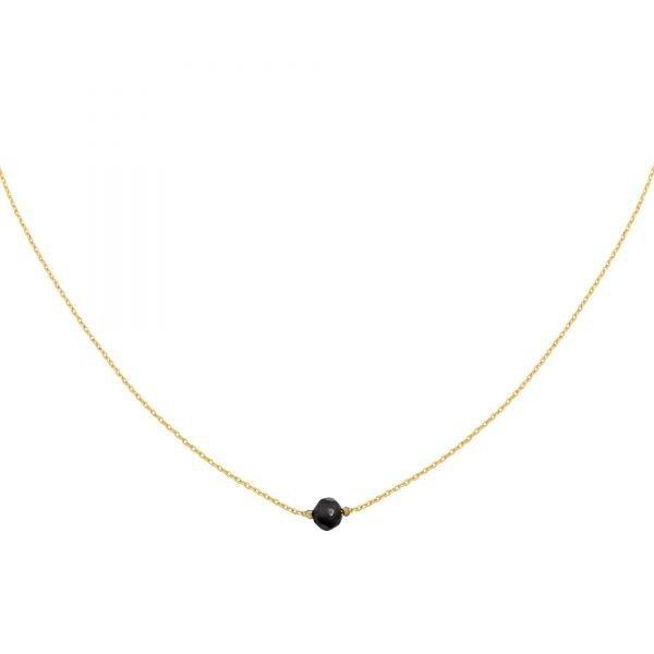 Yehwang Ketting minimalistisch met steen — Zwart