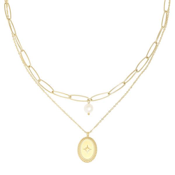 Yehwang Ketting Pretty in Pearls  — Goud
