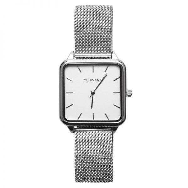 Yehwang Horloge square - Zilver - Japan Movt