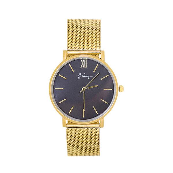 Yehwang Horloge Lovely Times - Goud & Zwart