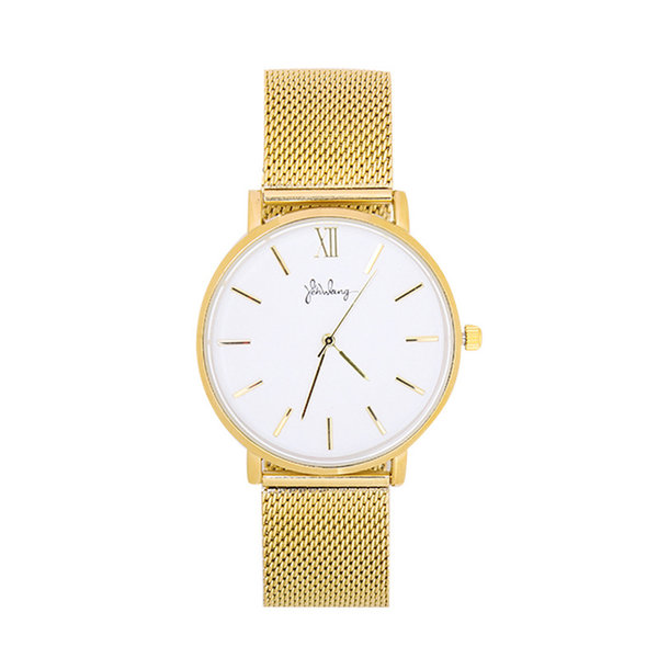 Yehwang Horloge Lovely Times - Goud & Wit