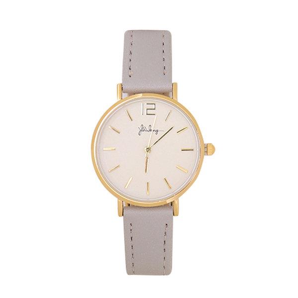 Yehwang Horloge Little Time | Grijs & Goud