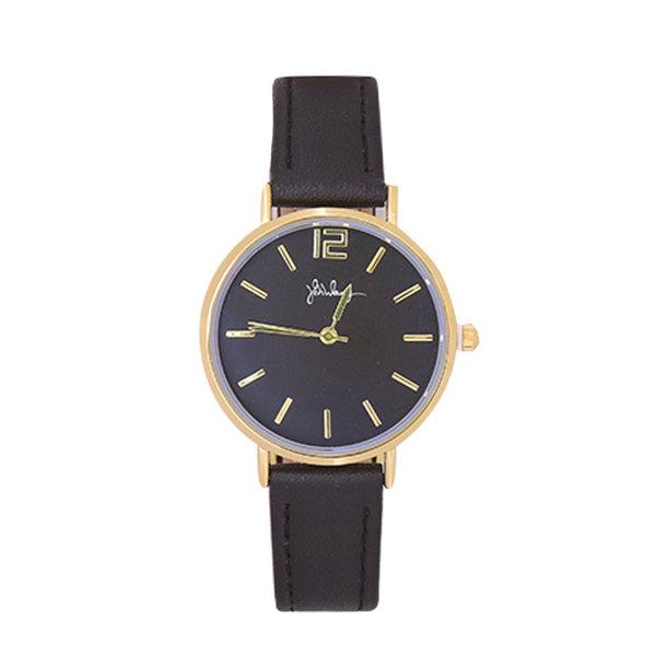 Yehwang Horloge Little Time | Zwart & Goud
