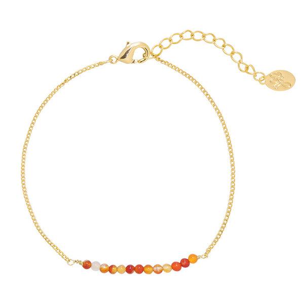 Yehwang Armband little happiness — Oranje- Goud