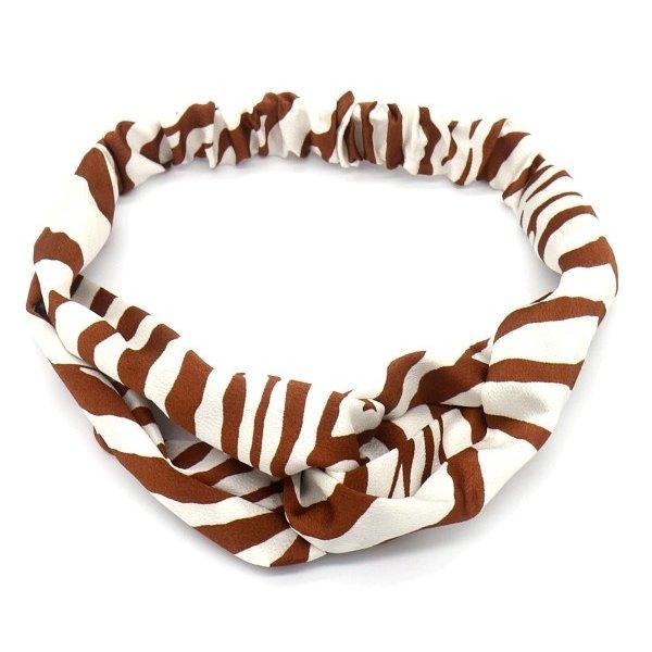 Haarband Zebra | Bruin - Wit