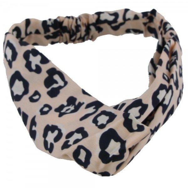 Haarband luipaardenprint | Roze