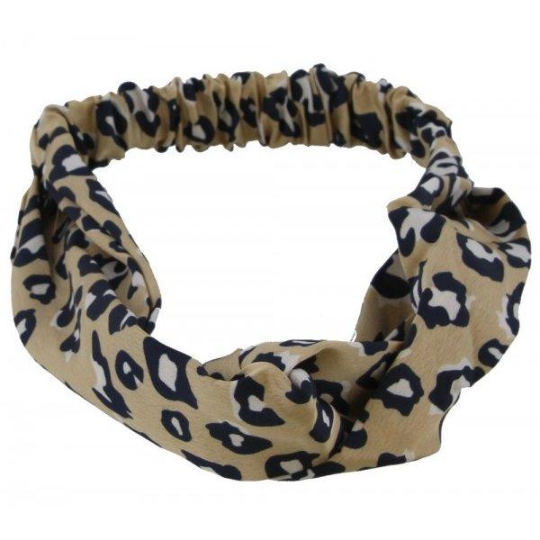 Haarband luipaardenprint | Lichtbruin