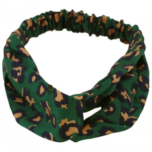 Haarband luipaardenprint | Groen