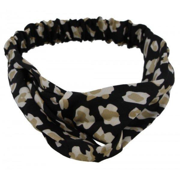 Haarband luipaardenprint |  Zwart