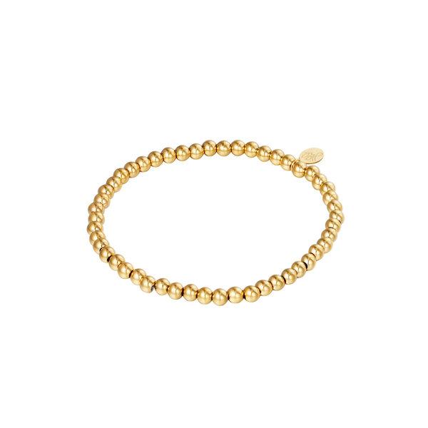 Yehwang Armband kralen Happy | Goud