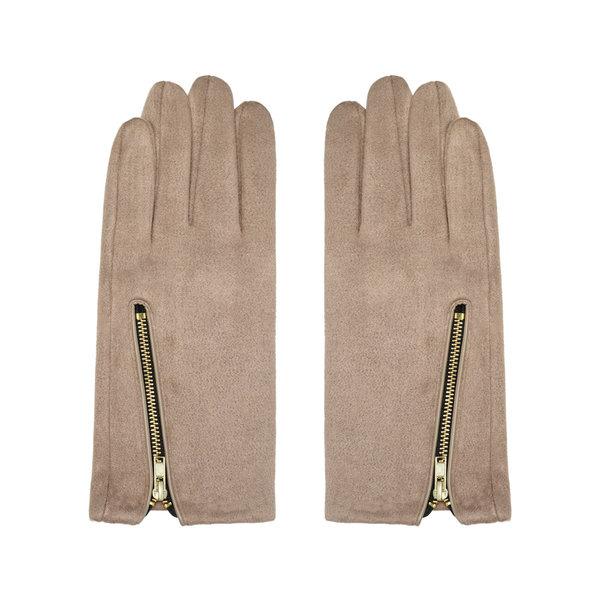 Handschoenen Zip me Up | Beige