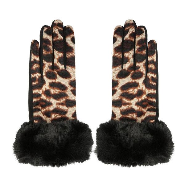 Handschoenen Furry   Luipaard