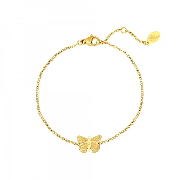 Armband vlinder | Goud