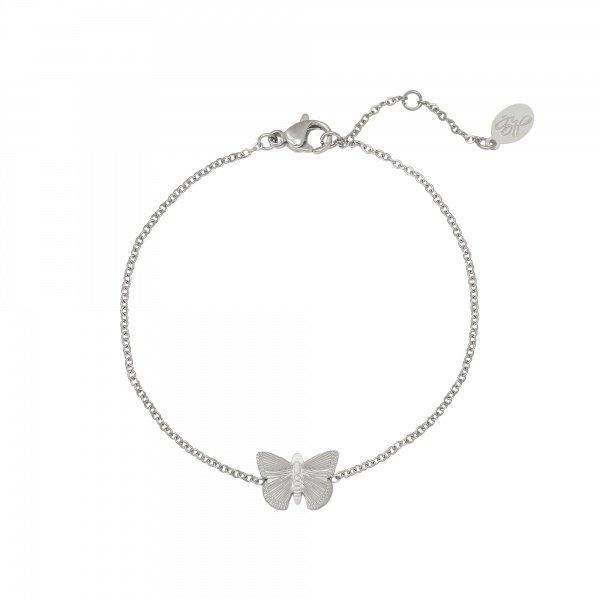 Armband vlinder | Zilver