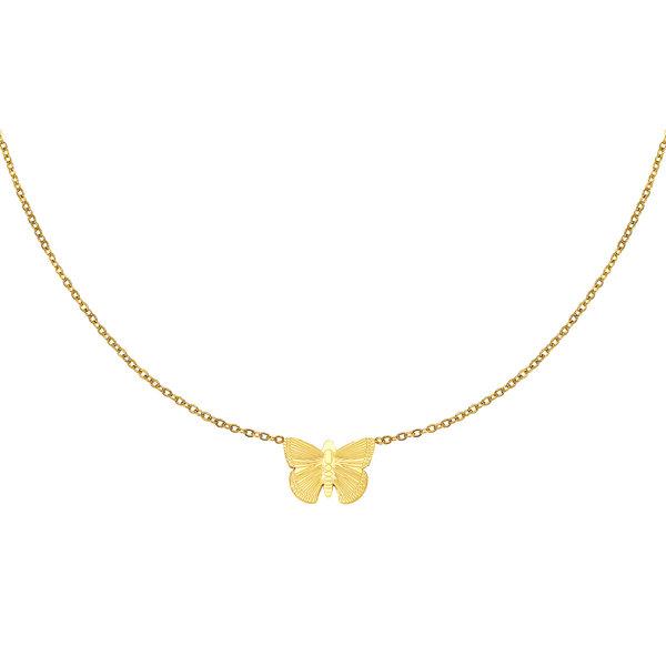 Ketting Vlinder | Goud
