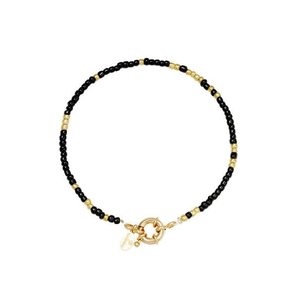 Armband kralen Ziggy   Zwart - Goud