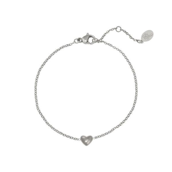 Armband Hart -Always in my heart | Zilver