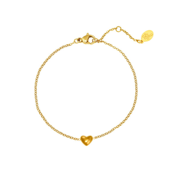 Armband Hart -Always in my heart | Goud