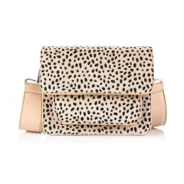 Next Lvl Schoudertas cheetah  design | Beige  - Zwart