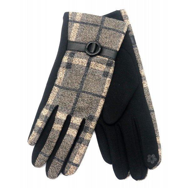 Handschoenen Ruit   Grijs