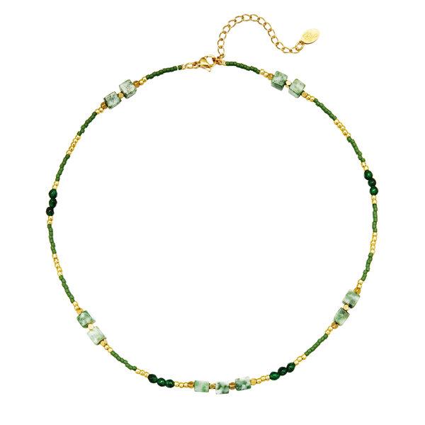 Ketting kralen All Natural | Groen