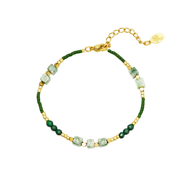 Armband Kralen All Natural | Groen