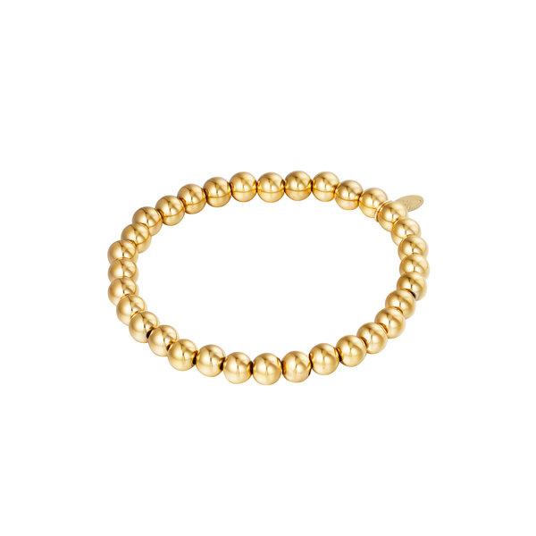 Armband Kralen Groot   Goud