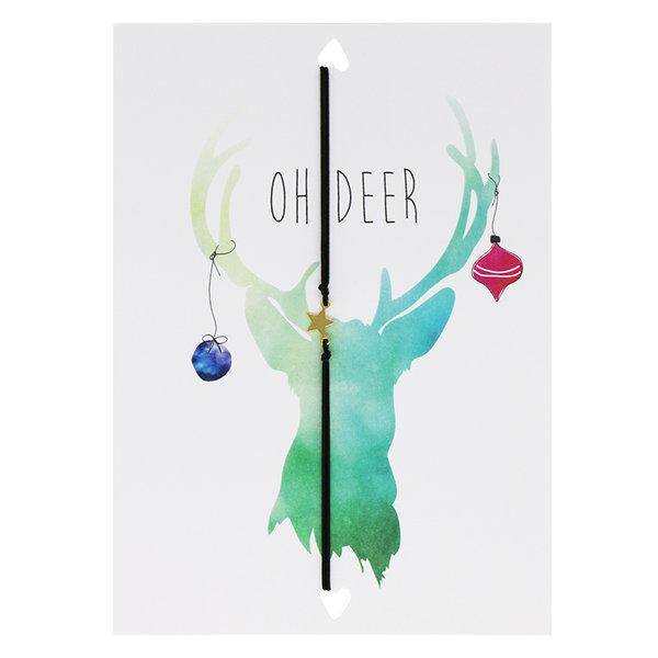 Yehwang Lucies Amsterdam   Kerstkaart met Armband   Oh Deer