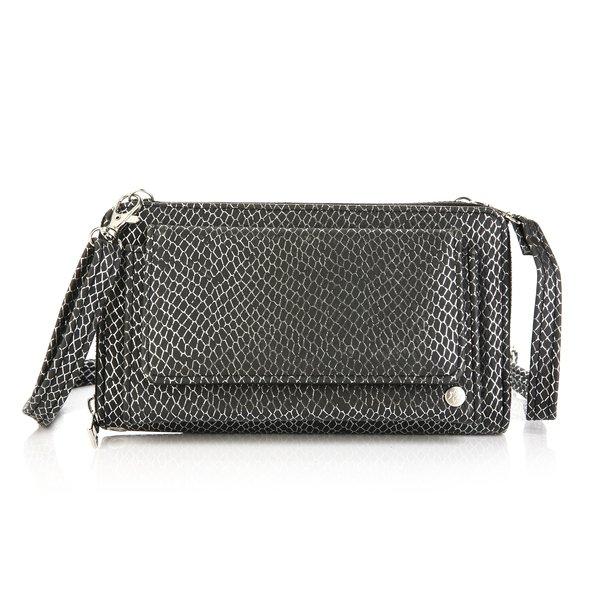Next Lvl 3 in 1 Clutch / Portemonnee / handtas | Slangen print - Zwart -Zilver