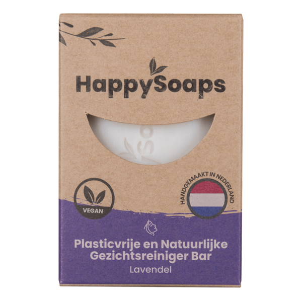 Happy Soaps Gezichtsreiniger Bar |  Lavendel