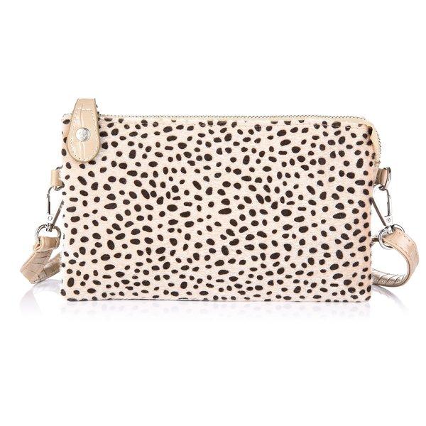 Next Lvl Schoudertas Trendy Cheetah Look | Beige