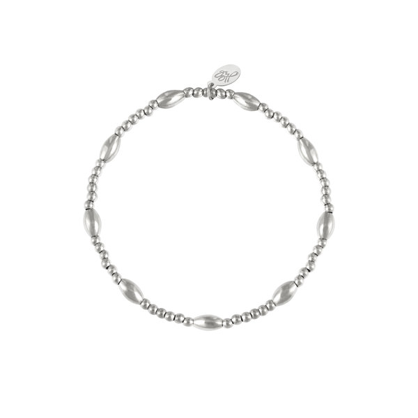 Armband kralen Shirley | Zilver