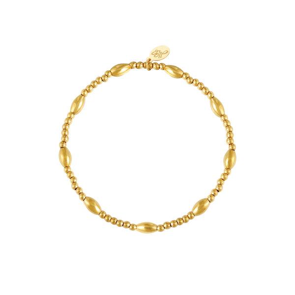 Armband kralen Shirley | Goud
