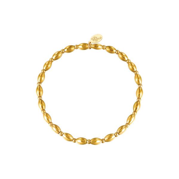 Armband kralen Amalia    Goud