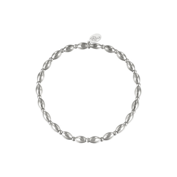 Armband kralen Amalia    Zilver