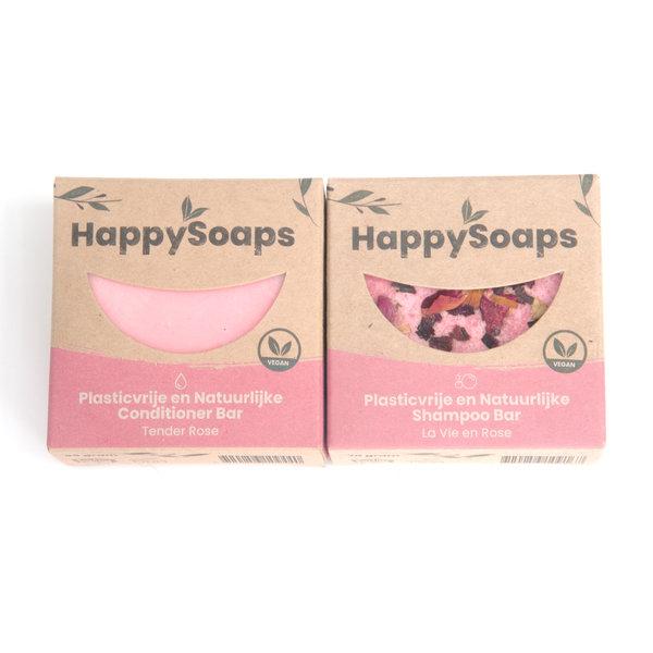 Happy Soaps HappySoaps Shampoo en conditioner set | Rose