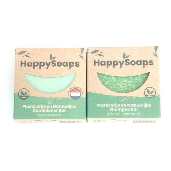 Happy Soaps HappySoaps Shampoo en conditioner set | Aloe you vera much