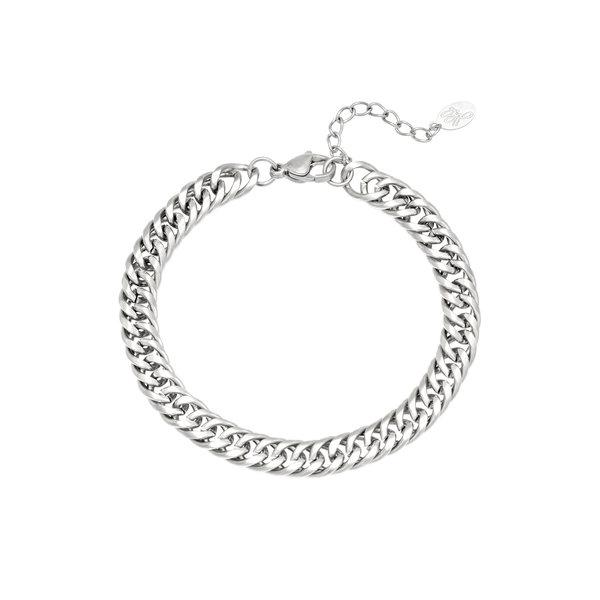 Armband Robuuste Schakel   Zilver
