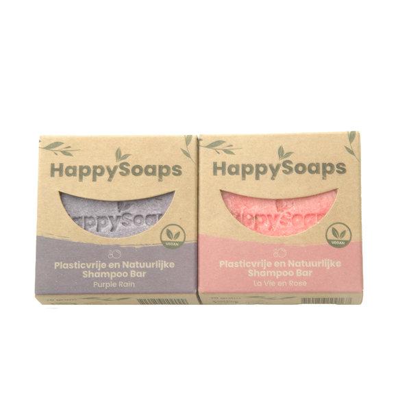 Happy Soaps HappySoaps Shampoo bar set | Rose en Lavendel