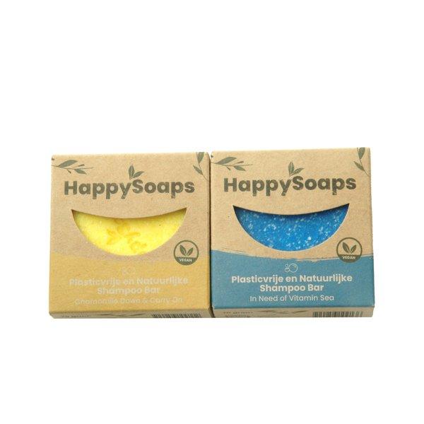 Happy Soaps HappySoaps Shampoo bar set | Sea en Chamomile