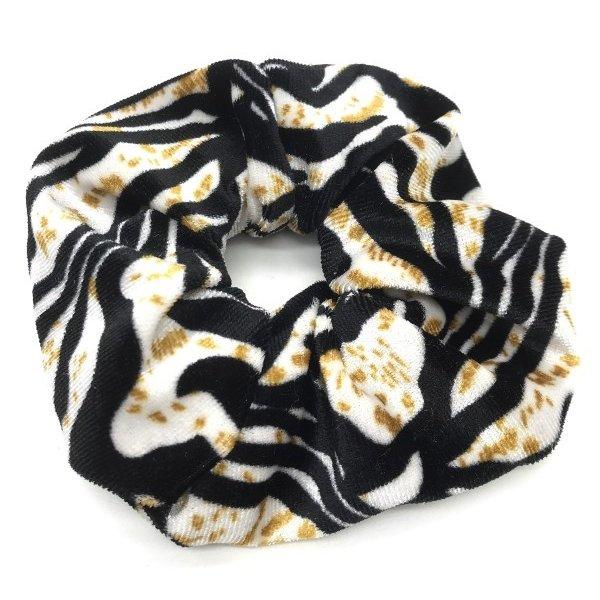 Scrunchie Velvet Tiger
