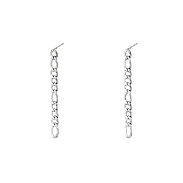 Oorbellen Chain   Zilver