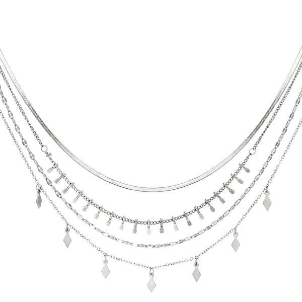 Yehwang Ketting met 4 lagen  | Zilver