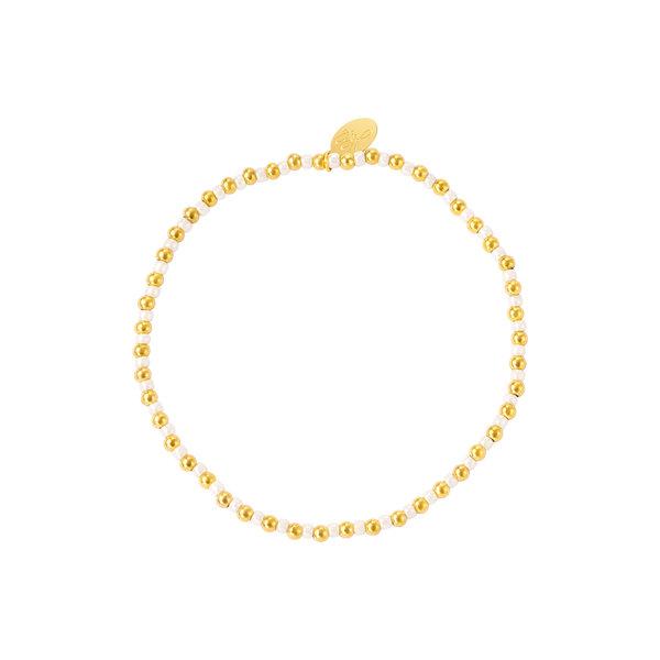 Yehwang Armband Kralen | Goud - Wit