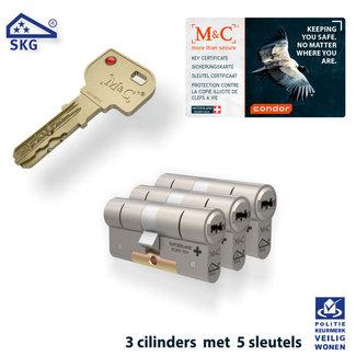 M&C 3 x Condor Cilinder SKG*** met CERTIFICAAT