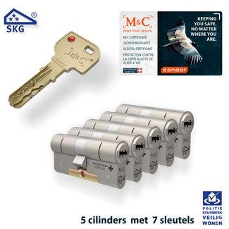 M&C 5x Condor Cilinder SKG*** met CERTIFICAAT