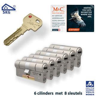 M&C 6 x Condor Cilinder SKG*** met CERTIFICAAT